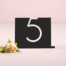 Black Acrylic Table Number - Top Aligned Style