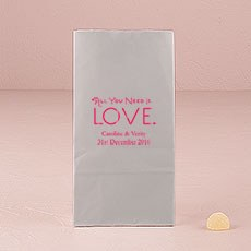 All You Need is Love. Block Bottom Gusset Paper Goodie Bags