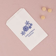 Winter Finery Snowflake Flat Paper Goodie Bag