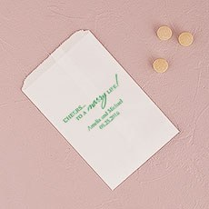 """Cheers to a marry Life"" Flat Paper Goodie Bag"