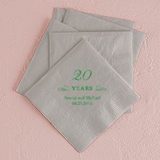 20 Years Printed Napkins