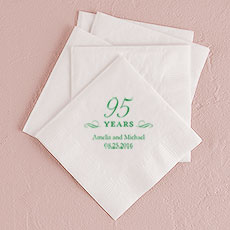 95 Years Printed Napkins