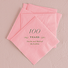 100 Years Printed Napkins