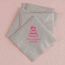 Wedding Cake Printed Napkins