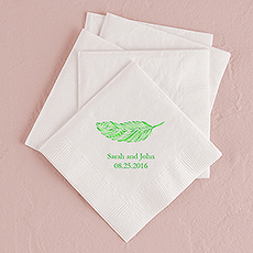 Feather Whimsy Printed Napkins