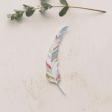 Feather Whimsy Paper Feathers   Large