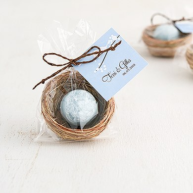 mini bird nest wedding favors