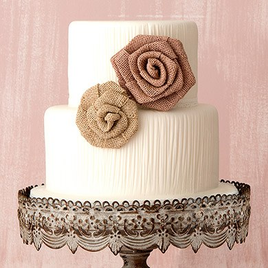 Rolled Burlap Flowers - Small