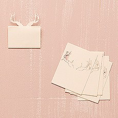 Laser Expressions Deer Antlers Folded Place Card