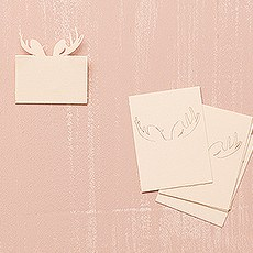 Laser Expressions Moose Antlers Folded Place Card