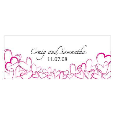 Contemporary Hearts Small Wedding Window Cling