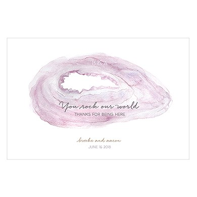 Agate Slice Personalized Paper Place Mat