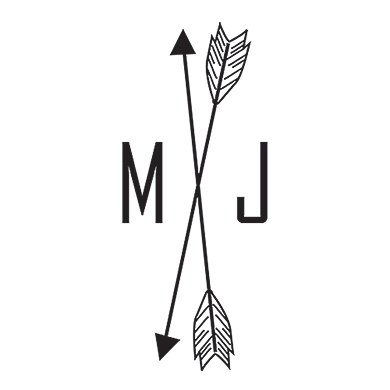 Free Spirit Personalized Arrow Monogram Rubber Stamp