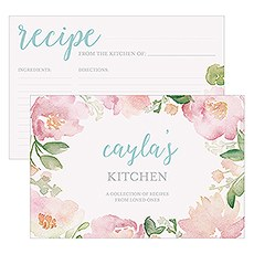Garden Party Recipe Cards