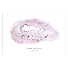Agate Allure Personalized Paper Place Mat