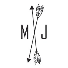 Free Spirit Personalised Arrow Monogram Rubber Stamp