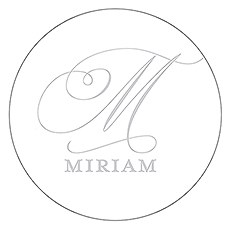 Monogram Simplicity Small Sticker - Elegant