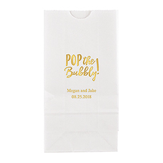 Pop the Bubbly Block Bottom Gusset Paper Goodie Bags