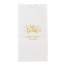 Let's Toast Block Bottom Gusset Paper Goodie Bags