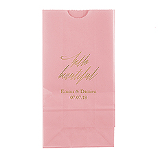 """Hello Beautiful"" Block Bottom Gusset Paper Goodie Bags"