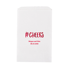 Hashtag Cheers Flat Paper Goodie Bag
