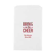Bring on the Cheer Flat Paper Goodie Bag