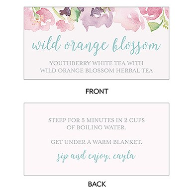Garden Party Open Format Small Favor Tag