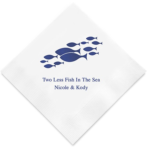 Of all the fish in the sea printed napkins weddingstar for All the fish in the sea