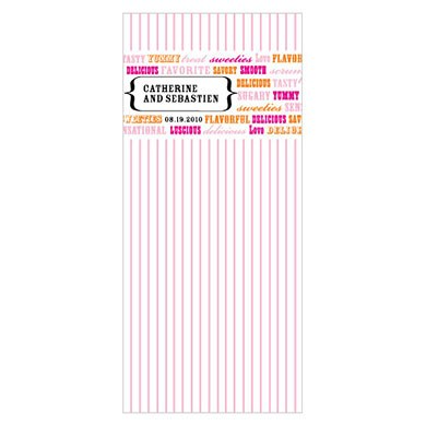 Old Time Candy Cellophane Wedding Favor Bag Insert