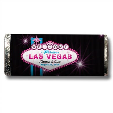 Las Vegas Chocolate Bar Favor