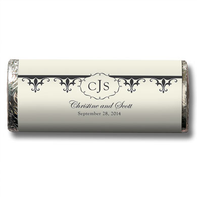 Fleur De Lis Chocolate Bar Wedding Favor
