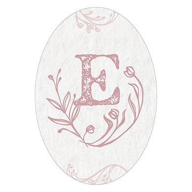 Modern Fairy Tale Oval Photo Frame Cling   Monogram