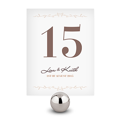 Equestrian Love Wedding Table Number