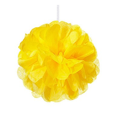 Mini Paper Pom Pom Sunflower