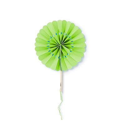 Paper Wheel Fan Green