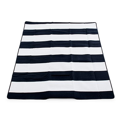 On The Go Picnic Mat Black & White Stripes