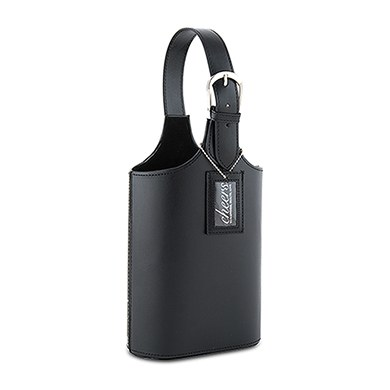 Image of 2 Section Wine Carry Bag - Black