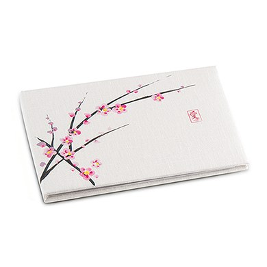 Cherry Blossom Traditional Wedding Reception Guest Book