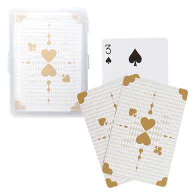 classic metallic playing card wedding favors