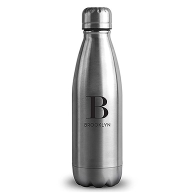 Central Park Travel Bottle - Matte Silver - Modern Serif Initial Printing