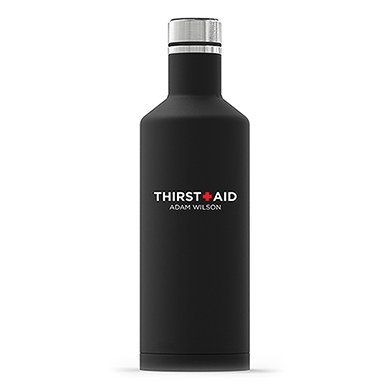 Times Square Travel Bottle - Matte Black - Thirst Aid Printing