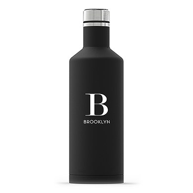 Times Square Travel Bottle - Matte Black - Modern Serif Initial Printing