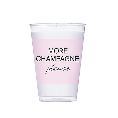 More Champagne Pink Frosted Plastic Cups