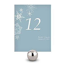 Winter Finery Table Number