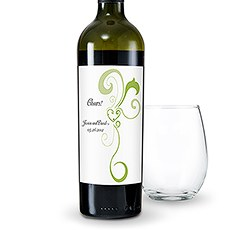 Heart Filigree Wine Label