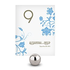 Floral Orchestra Table Number