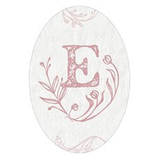 Modern Fairy Tale Oval Photo Frame Cling - Monogram