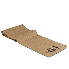 Table Number Personalized Burlap Table Runner