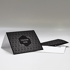 Black and Gold Opulence Thank You Card With Fold