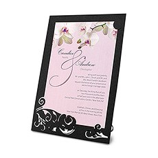 "Laser Expressions Classic Orchid ""Double-Luxe"" Invitation"